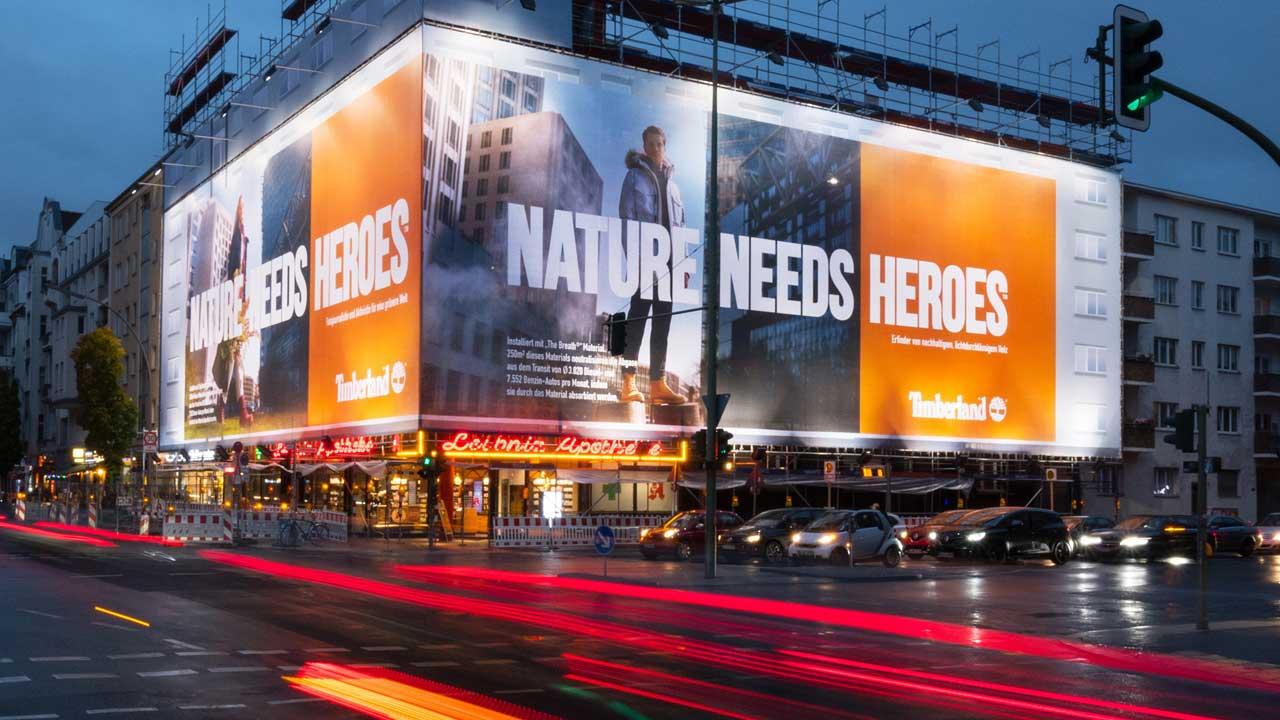 Auch Timberland wirbt klimaschonend