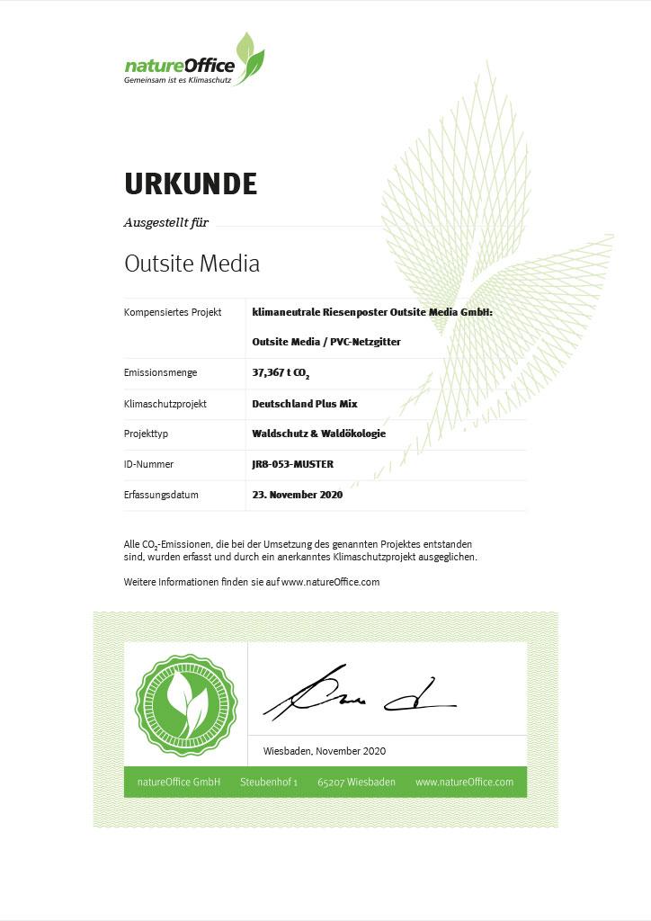 Grafik Zertifikat natureOffice